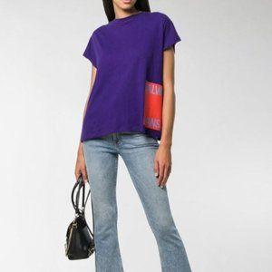 CALVIN KLEIN JEANS Purple Logo Tshirt L NWT